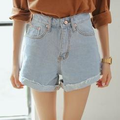 Dasim - Roll Hem Denim Shorts