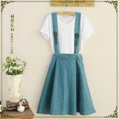 Storyland - Suspender Denim Skirt