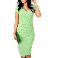 LIVA GIRL - V领短袖连衣裙