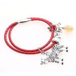 MIPENNA - Toy Zebra and Red Tea Bracelet