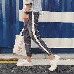 子俊 - 配色边灯芯绒裤