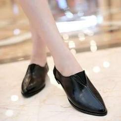 幸福鞋坊 - 平底純色單鞋
