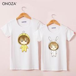 Onoza - Short-Sleeve Cartoon-Print T-Shirt
