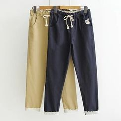 Musume - Drawstring Tapered Pants