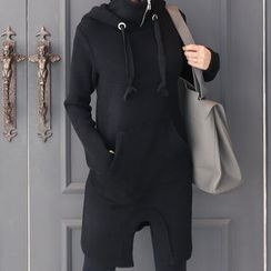 DANI LOVE - High-Neck Hooded Pullover Dress