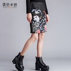 Cloudwood - 印花鉛筆裙