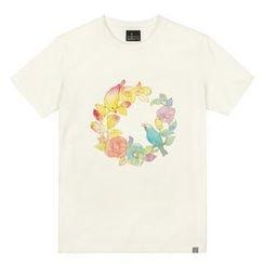 the shirts - Camellia Print T-Shirt