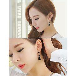 soo n soo - Rhinestone Tassel Earrings