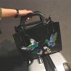 Nautilus Bags - Embroidered Shoulder Bag