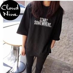 Cloud Nine - Lettering Short-Sleeve T-Shirt
