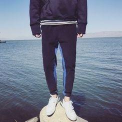Mr. Wu - 双色低胯裤