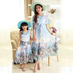 Famula - Kids Sleeveless Floral Dress