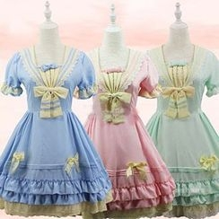 Cosgirl - Short-Sleeve Lolita Cosplay Dress