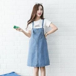 BOHIN - Strap Denim Pinafore