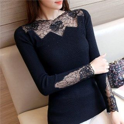 Romantica - Lace-Panel Sweater