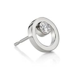 Kenny & co. - Circle Steel Earring with Crystal