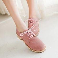 幸福鞋坊 - 牛津平底鞋