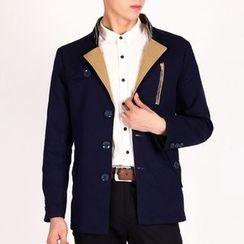 RUYA - Mandarin-Collar Buttoned Jacket
