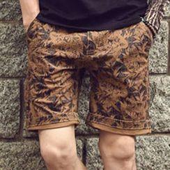 Mannmix - Leaf Print Shorts