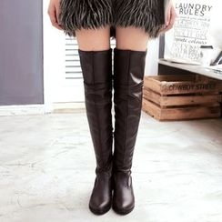 Sidewalk - Zip Over the Knee Boots