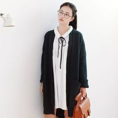 Forest Girl - Cable Knit Long Cardigan