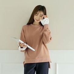 WITH IPUN - Lace-Trim Sweatshirt