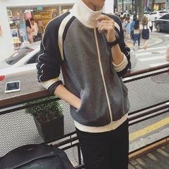 MEING - Stand-Collar Zip Raglan Jacket