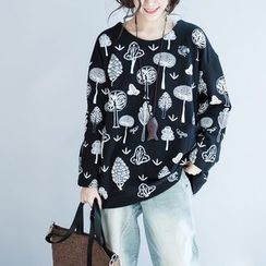 Dream Girl - Tree Print Pullover