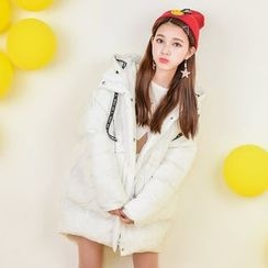 Moriville - Printed Hooded Padded Coat