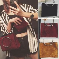 Clair Fashion - Faux-Leather Handbag