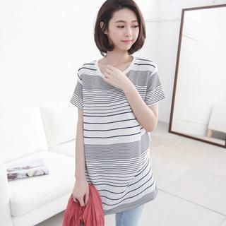 LULUS - Short-Sleeve Striped T-Shirt