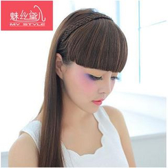 My Style Wigs - Braided Fringe Hair Band - Straight