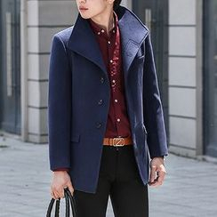Cipher - Plain Long Woolen Coat