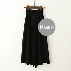 Meimei - 宽身短款裤