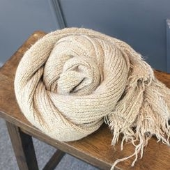 DANI LOVE - Frayed Knit Scarf