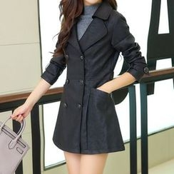 ARDAN - Faux Leather Trench Coat