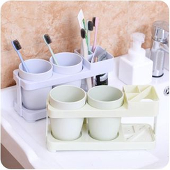 Eggshell Houseware - Toothbrush Holder with Tumbler