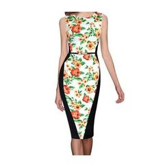 Forest Of Darama - Floral Panel Sheath Dress with Belt