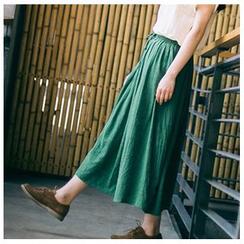 Clover Dream - Drawstring Waist Maxi Skirt