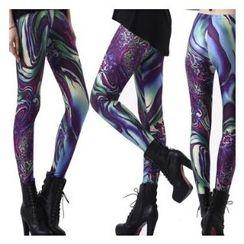 Qui Qui - Printed Leggings