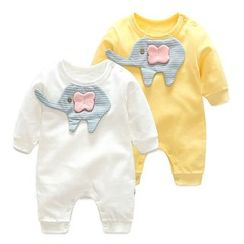 MOM Kiss - Baby Elephant Long-Sleeve Bodysuit