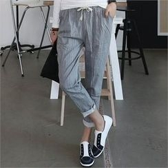 CHICFOX - Drawstring-Waist Tapered Pants