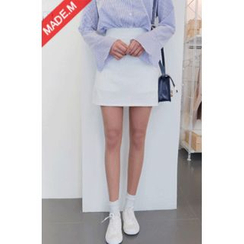 MICHYEORA - Inset Shorts A-Line Mini Skirt
