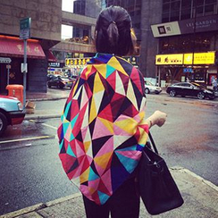 Follow Me - Geometric Print Scarf