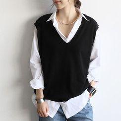 NANING9 - Sleeveless Knit Top