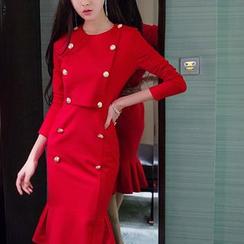 Aurora - Buttoned Sheath Dress