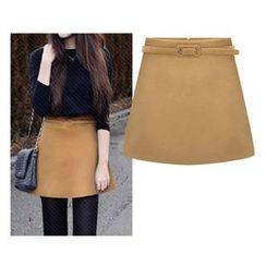 Lovebirds - Plain A-Line Skirt