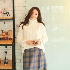 Cherryville - Turtle-Neck Loose-Fit Sweater