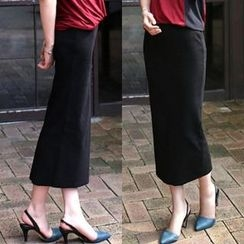 The Violet - Ribbed Maxi Skirt