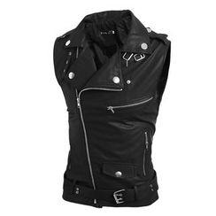 Hansel - Lapel Leather Vest
